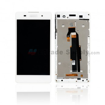For Sony Xperia E5 F3311 LCD Screen and Digitizer Assembly With Front Housing Replacement - With SN Logo - White - Grade S+ (0)