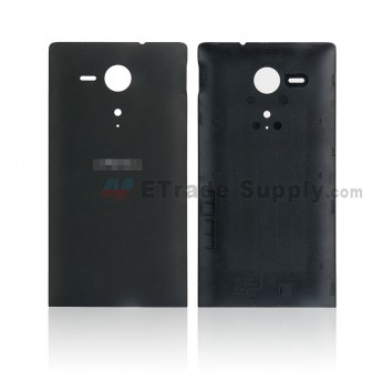 For Sony Xperia SP M35h Battery Door Replacement - Black - SN and Xperia Logo - Grade S+ (0)