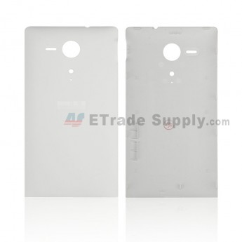 For Sony Xperia SP M35h Battery Door Replacement - White - With Xperia Logo - Grade S+ (0)
