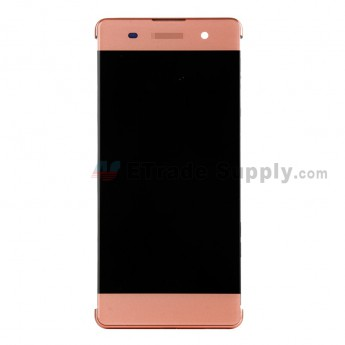 For Sony Xperia XA LCD Screen and Digitizer Assembly with Front Housing Replacement - Rose Gold - With Logo - Grade S+ (0)