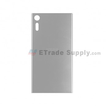 For Sony Xperia XZ Battery Door Replacement - Silver - With Logo - Grade S+ (0)