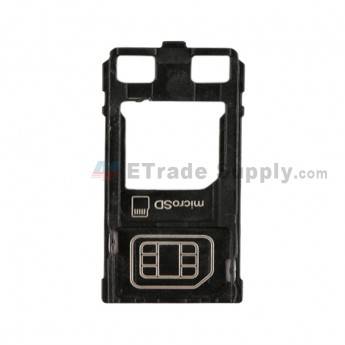 For Sony Xperia XZ SIM Card Tray Replacement - Black - Grade S+ (0)