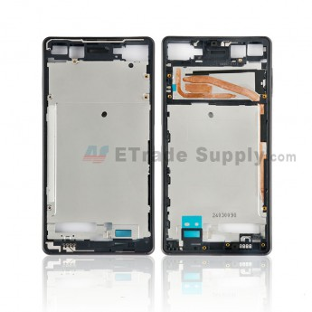 For Sony Xperia X Front Housing Replacement - Black - Grade S+ (0)