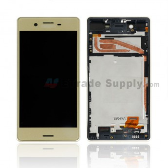 For Sony Xperia X LCD Screen and Digitizer Assembly With Front Housing Replacement - Gold - With SN Logo - Grade S+ (0)