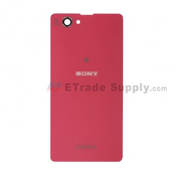 For Sony Xperia Z1 Compact Battery Door Replacement - Pink - With Logo - Grade S+ (0)