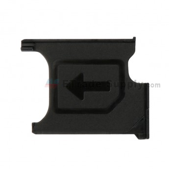 For Sony Xperia Z1 L39h SIM Card Tray Replacement - Black - Grade S+ (0)