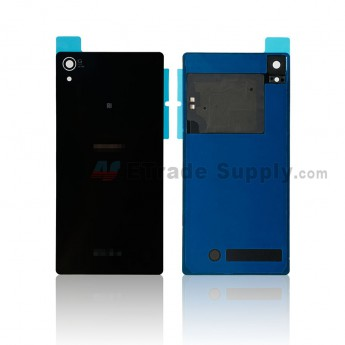 For Sony Xperia Z2 Battery Door Replacement (with NFC) - Black - Sony and Xperia Logo - Grade S+ (0)