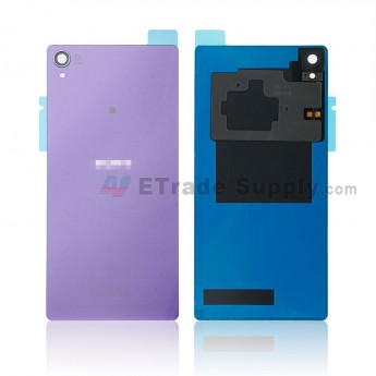 For Sony Xperia Z3 Battery Door Replacement (with NFC) - Purple - With Sony and Xperia Logo - Grade S+ (3)