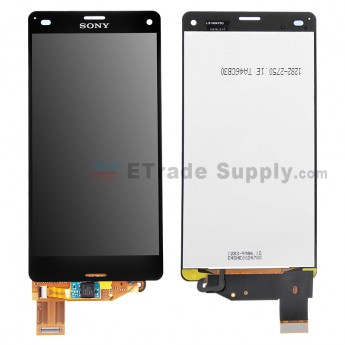 For Sony Xperia Z3 Compact LCD Screen and Digitizer Assembly Replacement - Black - With Sony Logo - Grade S+ (1)
