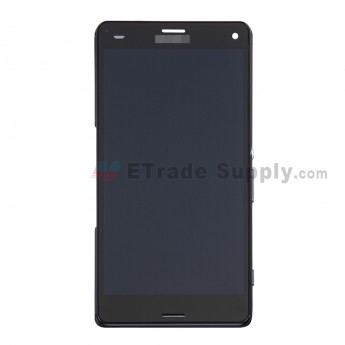 For Sony Xperia Z3 Compact LCD Screen and Digitizer Assembly With Front Housing Replacement - Black - With SN Logo - Grade S (14)