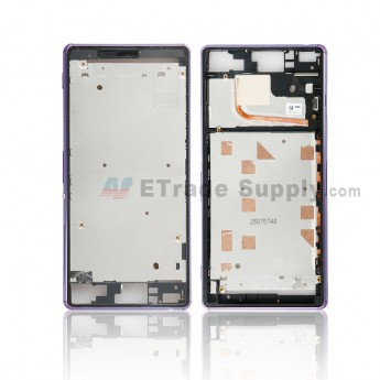 For Sony Xperia Z3 Front Housing Replacement - Purple - Grade S+ (0)