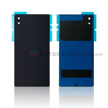 For Sony Xperia Z5 Battery Door Replacement - Black - Sony and Xperia Logo - Grade R (0)