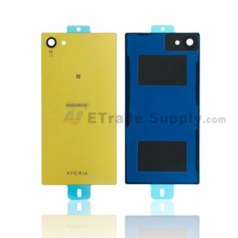 For Sony Xperia Z5 Compact Battery Door - Yellow - Sony and Xperia Logo - Grade R (0)