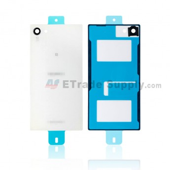 For Sony Xperia Z5 Compact Battery Door Replacement - White - Sony and Xperia Logo - Grade S+ (0)