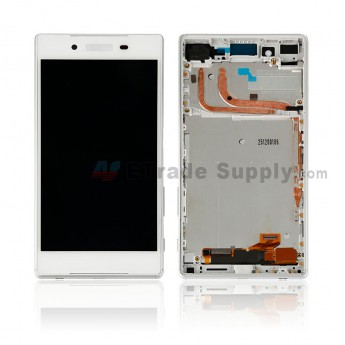 For Sony Xperia Z5 LCD Screen and Digitizer Assembly with Front Housing Replacement - White - With Logo - Grade S+ (0)