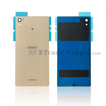For Sony Xperia Z5 Premium Battery Door Replacement - Gold - Sony and Xperia Logo - Grade R (0)