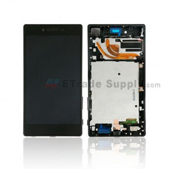 For Sony Xperia Z5 Premium LCD Screen and Digitizer Assembly with Front Housing Replacement - Black - Sony Logo - Grade S+ (0)