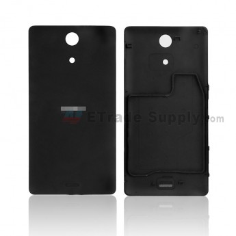 For Sony Xperia ZR M36h Battery Door Replacement - Black - With Xperia Logo - Grade S+ (0)