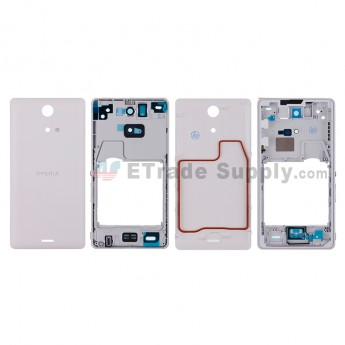 For Sony Xperia ZR M36h Housing Replacement - White - Grade S+ (0)