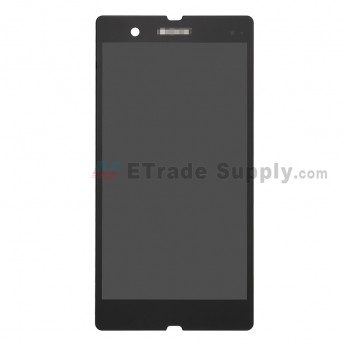 For Sony Xperia Z C6603 LCD Screen and Digitizer Assembly Replacement - Black - With Logo - Grade S (0)
