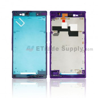 For Sony Xperia Z Ultra XL39h Front Housing Replacement - Purple - Grade S+ (0)