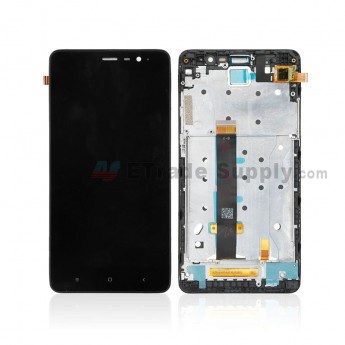 For Xiaomi Redmi Note 3 LCD Screen and Digitizer Assembly with Front Housing Replacement - Black - Without Logo - Grade S+ (0)