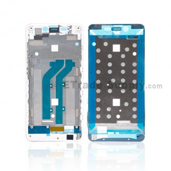 For ZTE Blade A452 Front Housing Replacement - Silver - Grade S+ (0)