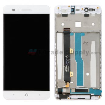 For ZTE Blade A610 LCD Screen and Digitizer Assembly with Front Housing Replacement - Black - Without Logo - Grade S+ (0)
