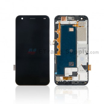 For ZTE Blade S6 Flex LCD Screen and Digitizer Assembly with Front Housing Replacement - Black - Without Logo - Grade S+ (0)