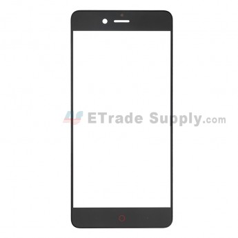 For ZTE Nubia Z17 Mini S (NX589J) Glass Lens Replacement - Black - Without Logo - Grade S+ (0)