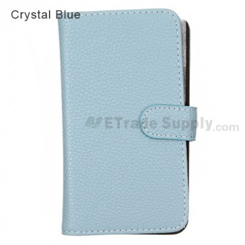 LG Nexus 4 E960 Leather Case ,Crystal Blue