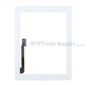 OEM Apple The New iPad (iPad 3) Digitizer Touch Panel Assembly (Assembled Flex Cable Ribbon, Wifi Version) ,White