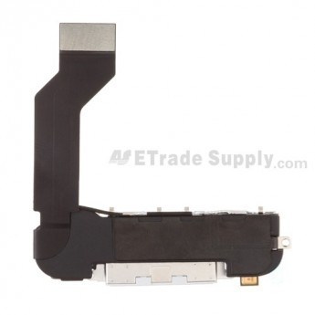OEM Apple iPhone 4S Charging Port Flex Cable Ribbon Assembly ,White