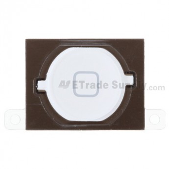 OEM Apple iPhone 4S Home Button with Adhesive ,White