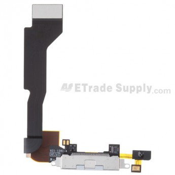 OEM Apple iPhone 4 Charging Port Flex Cable Ribbon (Verizon Wireless) ,White