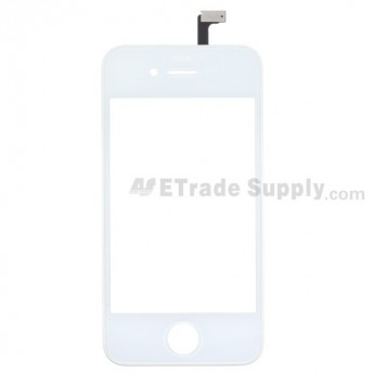 OEM Apple iPhone 4 Digitizer Touch Screen & Glass Lens with Frame (AT&T) ,White