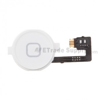 OEM Apple iPhone 4 Home Button with Home Button Flex Cable Ribbon (AT&T) ,White