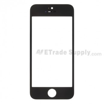 OEM Apple iPhone 5 Glass Lens with Frame  ,Black