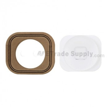 OEM Apple iPhone 5 Home Button with Rubber Gasket ,White