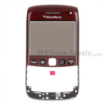 OEM BlackBerry Bold 9790 Digitizer Touch Panel with Front Housing and Lens Assembly ,Maroon