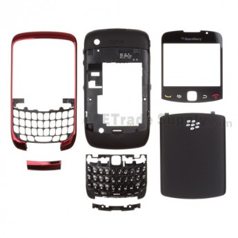 OEM BlackBerry Curve 3G 9300 Complete Housing ,Red