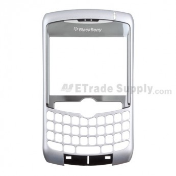OEM BlackBerry Curve 8300, 8310, 8320 Front Housing with Lens ,Silver