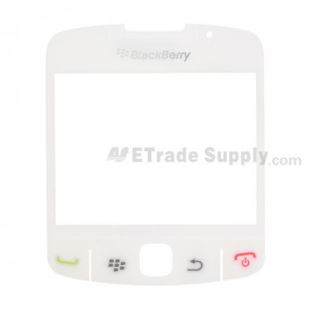 OEM BlackBerry Curve 8520, 8530 Glass Lens with Adhesive ,White