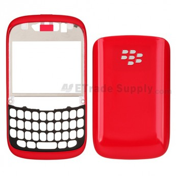 OEM BlackBerry Curve 9220 Front Housing and Battery Door ,Red