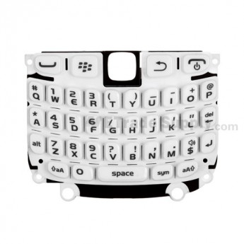 OEM BlackBerry Curve 9220 QWERTY Keypad with Bezel ,White
