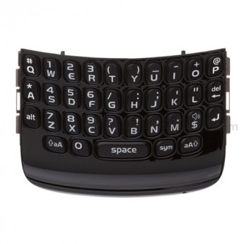 OEM BlackBerry Curve 9360, 9350, 9370 QWERTY Keypad with Bezel ,Black