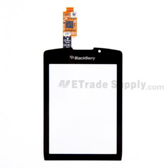 OEM BlackBerry Torch 9800 Digitizer Touch Screen with Adhesive ,Black