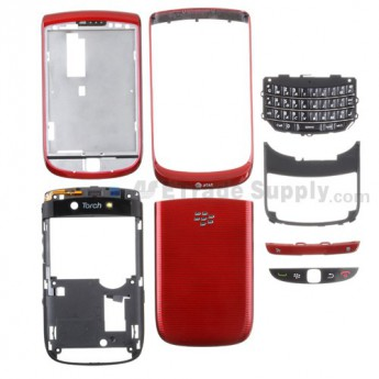 OEM BlackBerry Torch 9800 Housing (AT&T) ,Red