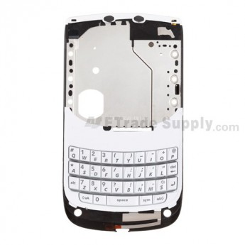 OEM BlackBerry Torch 9800 Middle Metal Plate with Small Parts ,White