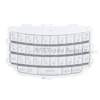 OEM BlackBerry Torch 9800 QWERTY Keypad with Bezel ,White